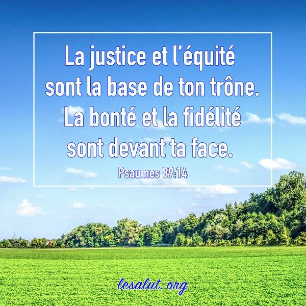 La justice et l'équité sont la base de ton trône – Versets bibliques en images