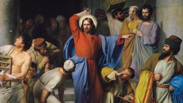 Ôtez cela d'ici, ne faites pas de la maison de mon Père une maison de traficstrong » (Jean 2 13-16)