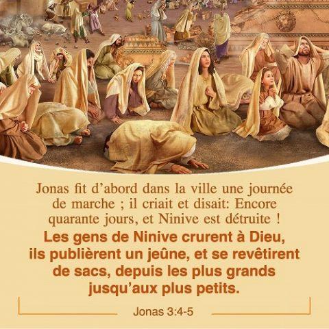 22 Avril 2018 – Jonas 3:4-5