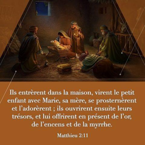 Verset biblique du jour Matthieu 2:11