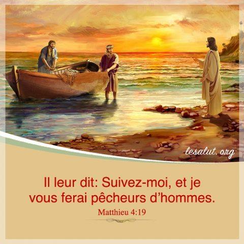 Verset biblique du jour Matthieu 4:19
