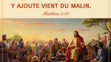 Évangile du jour – Matthieu 5:37