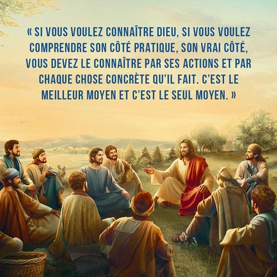 Connaître Dieu – Image évangile