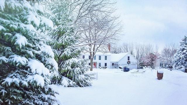 Hiver et neige, maison