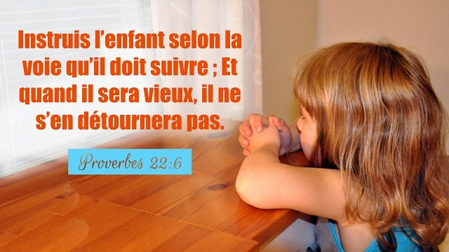 16 versets de la Bible à propos de Education Des Enfants