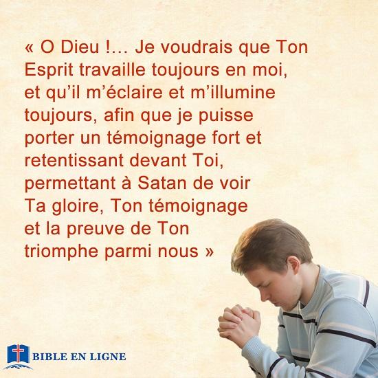 Concernant la pratique de la prière