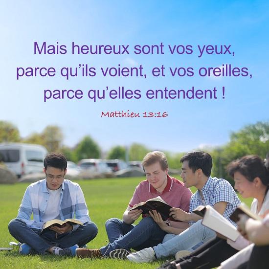 Évangile du jour – Matthieu 13:16
