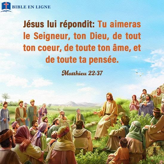 Évangile du jour – Matthieu 22:37