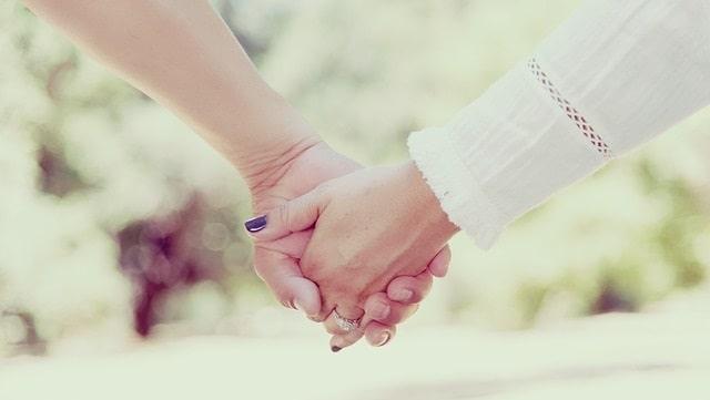 Couple, tenant mains