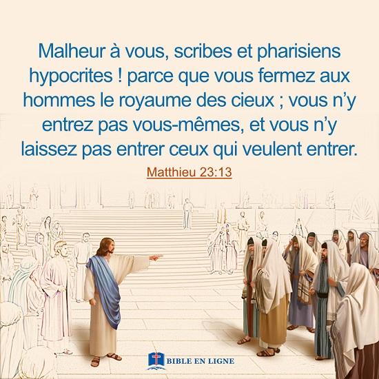 Matthieu 23:13 – Jésus condamne les Pharisiens