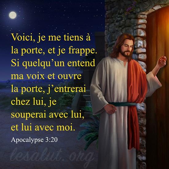Apocalypse 3:20 – L'écoute de la voix de Dieu