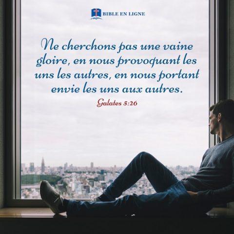 Galates 5:26 – Ne cherchons pas une vaine gloire