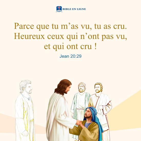 Jean 20:29 – Le doute de Thomas