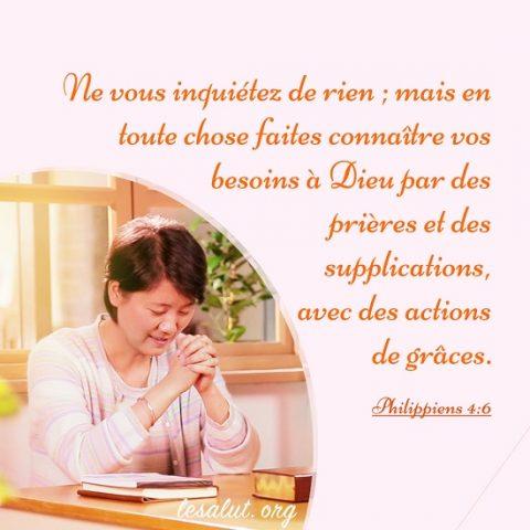 Philippiens 4:6 – La vraie prière