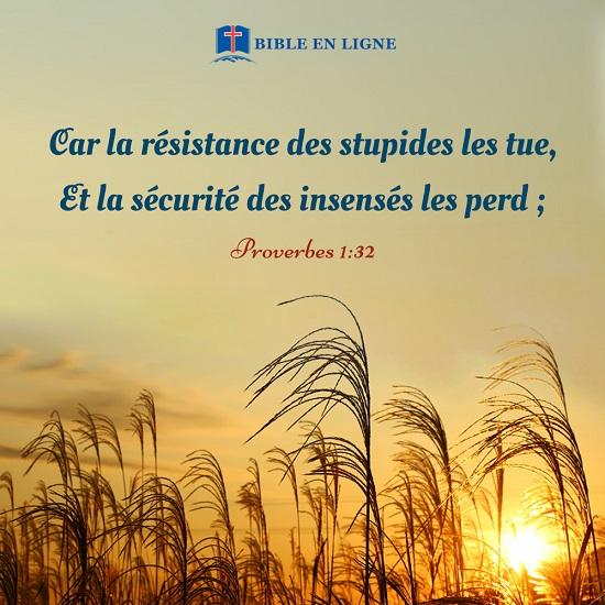 Proverbes 1:32 – La sécurité des insensés les perd