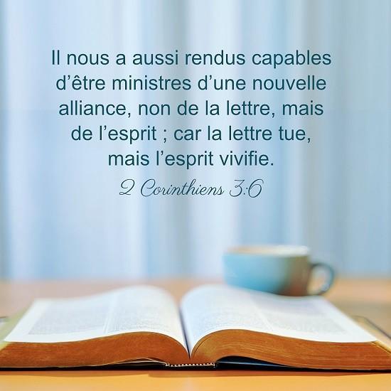 2 Corinthiens 3:6 – Comment lire la parole de Dieu