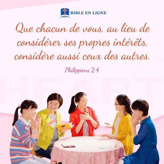Philippiens 2:4 – Prendre soin des autres