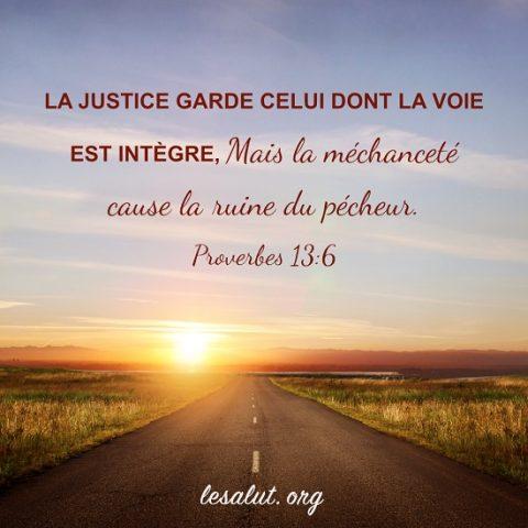Évangile du jour – La justice garde celui dont la voie est intègre