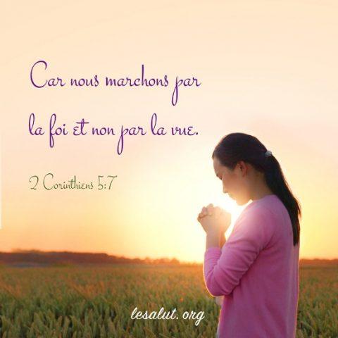 Évangile du jour – Marcher par la foi et non par la vue