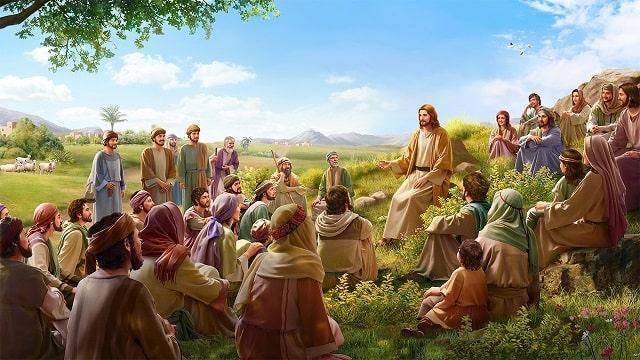 Le Seigneur Jésus prêche