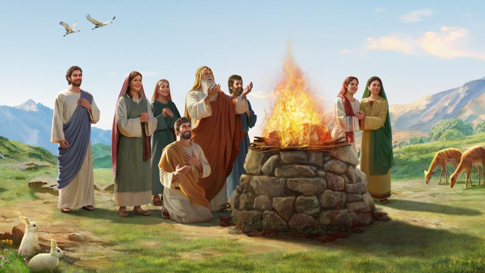 La bénédiction de Dieu sur Noé après le déluge