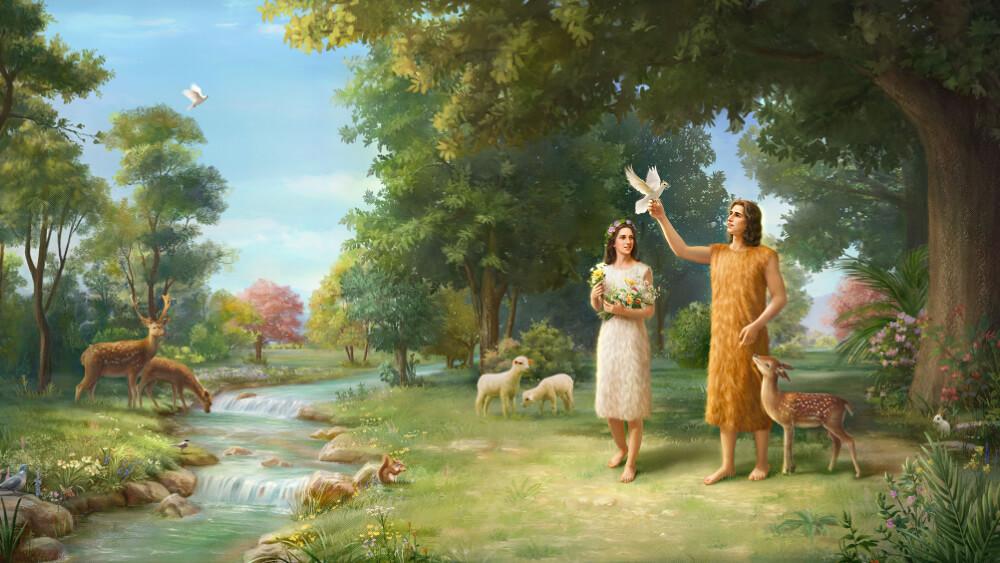 L'Éternel Dieu fit à Adam et à sa femme des habits de peau, et il les en revêtit