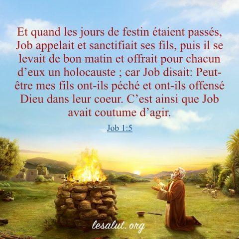 Évangile du jour – La pratique de Job de la crainte de Dieu et de l'éloignement du mal