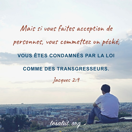 Évangile du jour – Ne pas faire acception de personnes