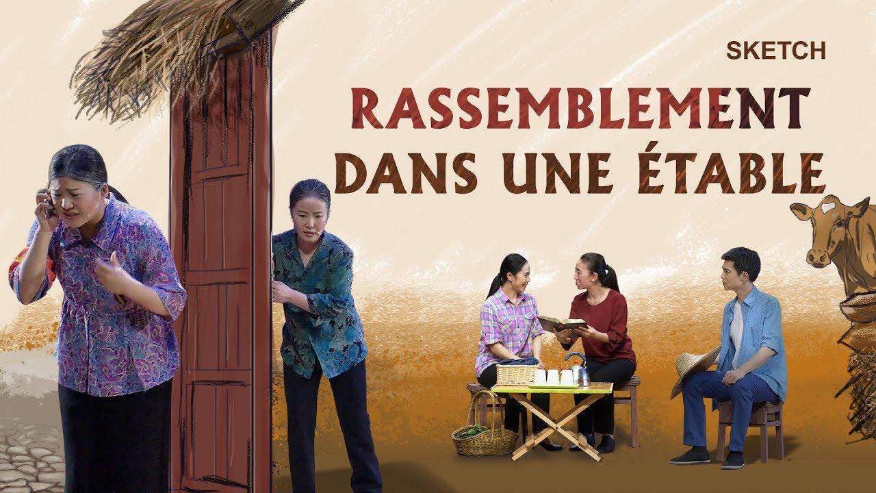 Nouveau sketch chrétien en français - Rassemblement dans une étable