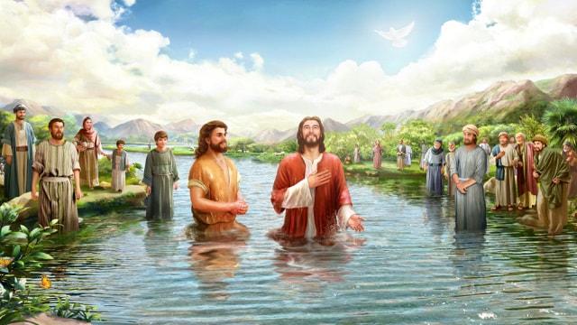 baptême de Jésus par Jean-Baptiste