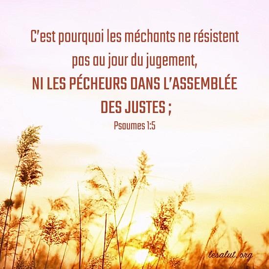 Évangile du jour – Les méchants ne résistent pas au jour du jugement de Dieu
