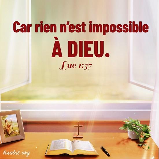 Évangile du jour – Rien n'est impossible à Dieu