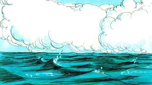 L'histoires de la Bible-Dieu dit: Qu'il y ait une étendue entre les eaux, et qu'elle sépare les eaux d'avec les eaux.