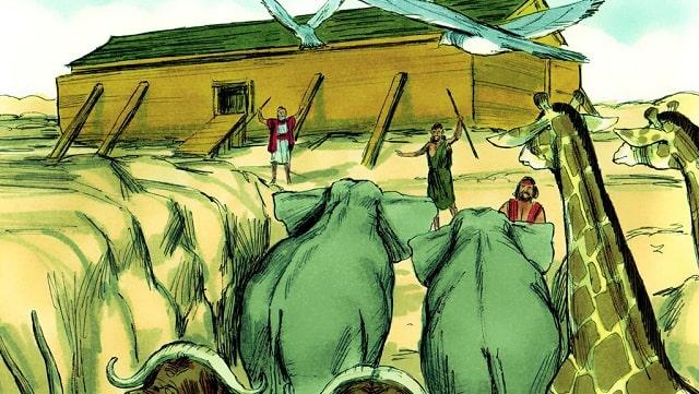 Dieu demande à Noé de construire une arche
