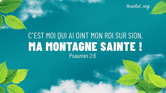 Psaumes 2:6 C'est moi qui ai oint mon roi Sur Sion, ma montagne sainte !