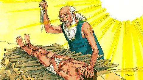 Abraham sacrifie Isaac à Dieu