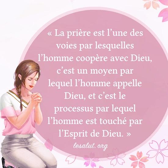 Le vrai sens de la prière