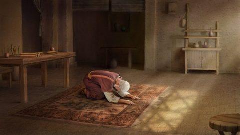 Job 1:20 Alors Job se leva, déchira son manteau, et se rasa la tête ; puis, se jetant par terre, il se prosterna.