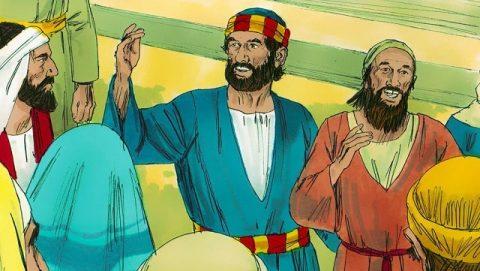 Le sermon de Pierre sous le porche de Salomon
