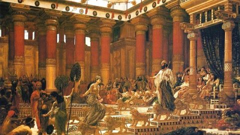 La reine de Saba visite Salomon