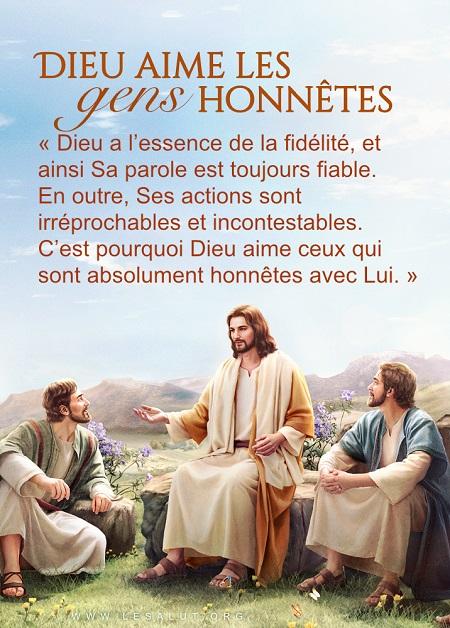 Dieu aime les gens honnêtes