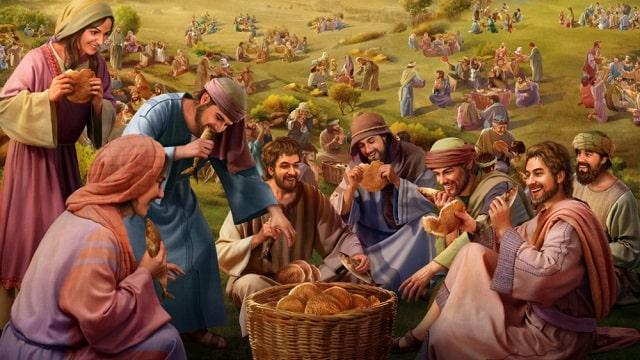Jésus nourrit 5000 personnes