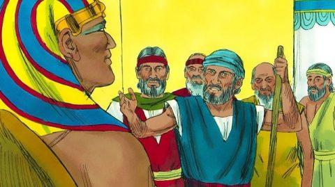 Moïse et Aaron font face à Pharaon