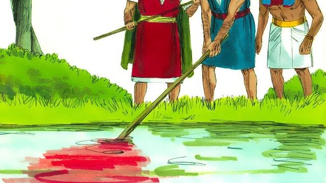 Premier fléau : l'eau changée en sang