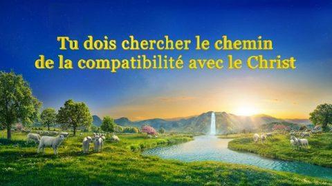 Tu dois chercher le chemin de la compatibilité avec le Christ