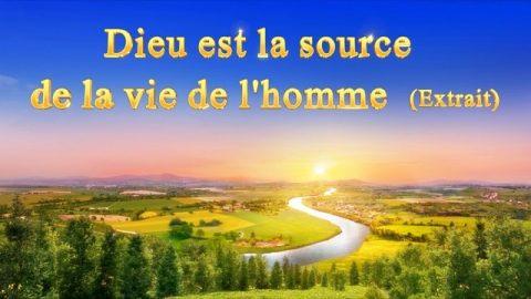 « Dieu est la source de la vie de l'homme » (Extrait 1)