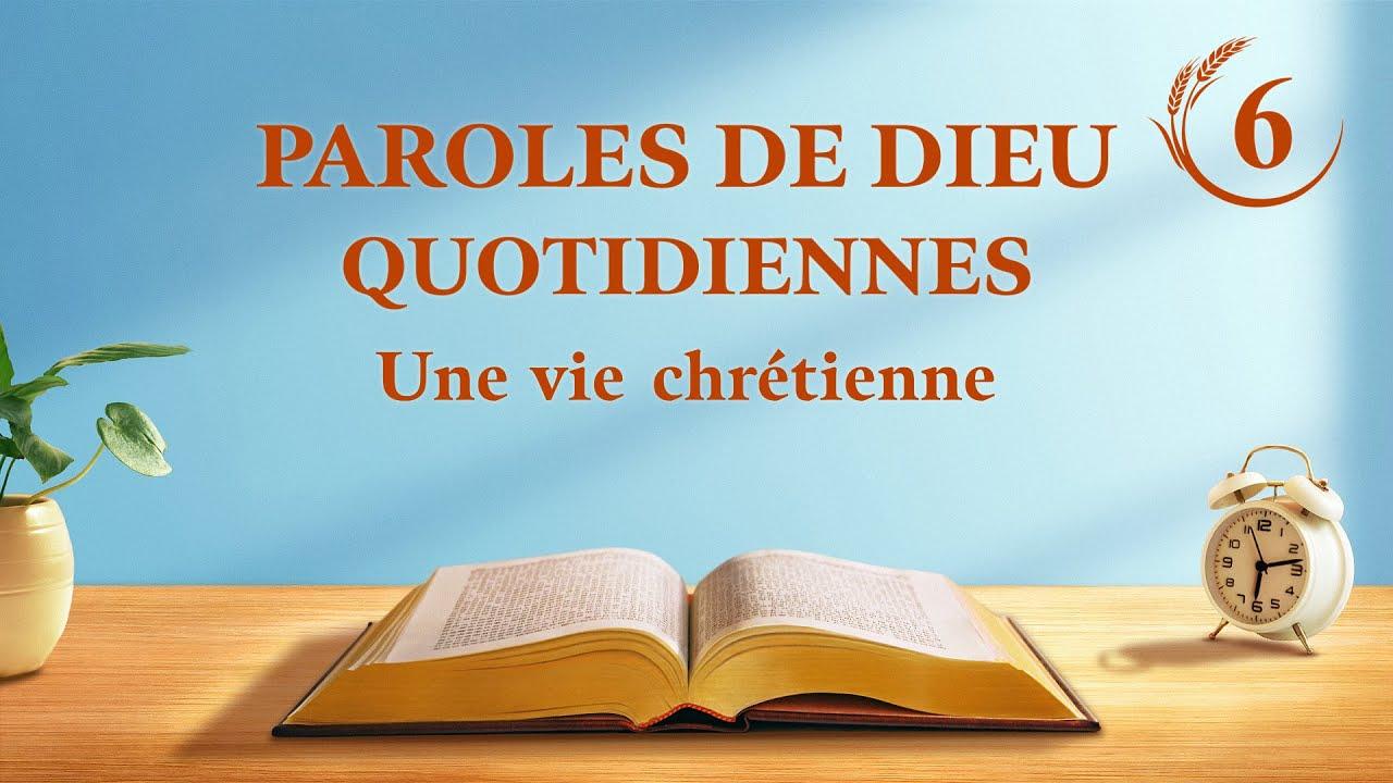 Paroles du jour | « La connaissance des trois étapes de l'œuvre de Dieu est la voie de la connaissance de Dieu » | Extrait 7
