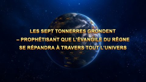 Les sept tonnerres grondent – prophétisant que l'Évangile du Règne se répandra à travers tout l'univers
