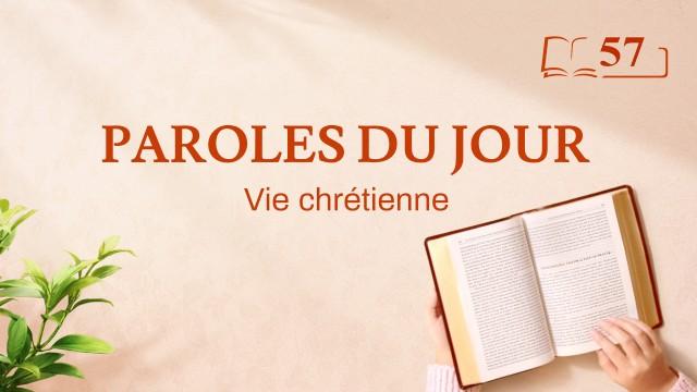 Paroles du jour | «Déclarations de Christ au commencement : Chapitre 42 » | Extrait 57